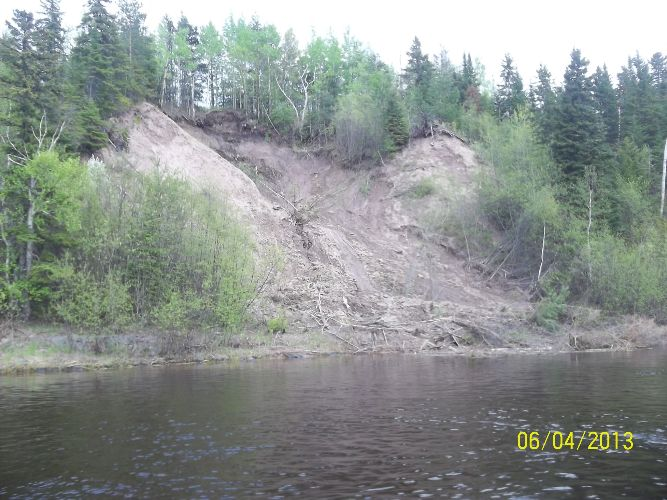 Erosion on Kam river