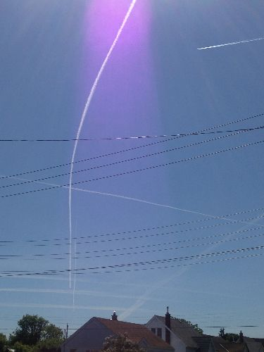 Canada Day Chemtrails In Thunder Bay