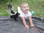 Baby and skunk!