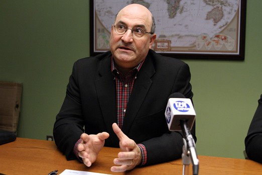 FILE -- City Manager Tim Commisso speaks to media in this tbnewswatch.com file photograph. The City manager released the 2011 salary disclosure act early after learning of a media leak.