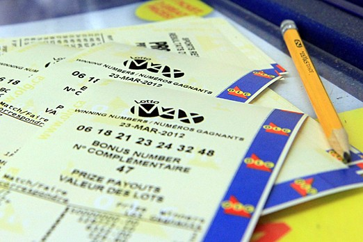 Lotto Max tickets can be seen in this Tbnewswatch.com photo on March 24, 2012.