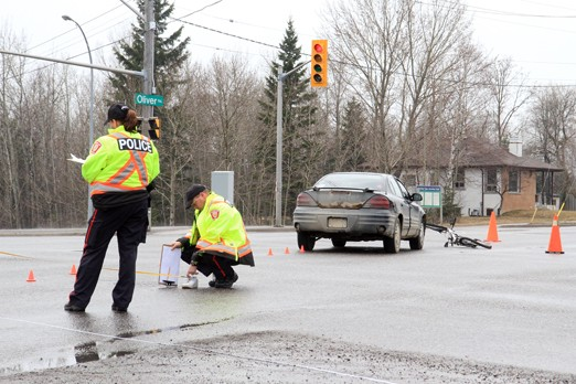 Police were investigating the scene of a single motor vehicle collision Saturday afternoon.