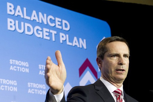Ontario Premier Dalton McGuinty speaks to the media in Toronto on Monday, April 23, 2012.