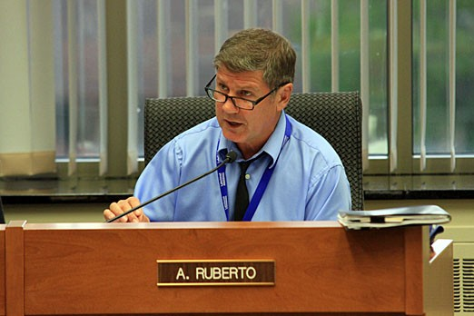 At-Large Coun. Aldo Ruberto attends a council meeting on May 28, 2012.
