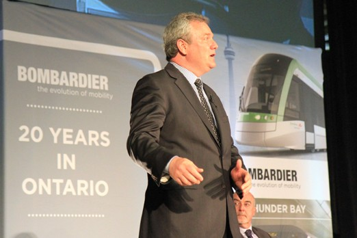 Rene Lalande, vice president of business in Thunder Bay, said competition will intensify for Bombardier in the future.