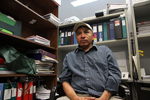 Levi Sofea sits in his office on June 8, 2012.