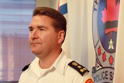 Police chief J.P. Levesque is encouraged by the decrease in crime in the city.