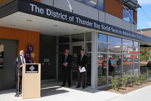 The grand opening of the new Thunder Bay DSSAB buiding was celebrated Wednesday.