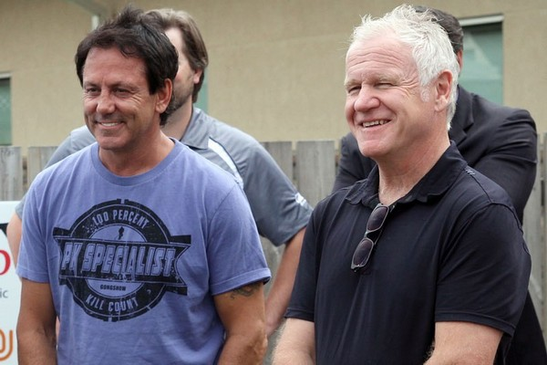 Doug Gilmour (left) dealt son Jake from the Kingston Frontenacs to the Niagara Ice Dogs on Wednesday.