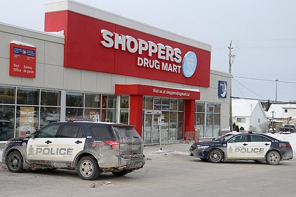 Police were alerted Tuesday that a woman had allegedly held up the Red River Road Shoppers Drug Mart at knife-point.