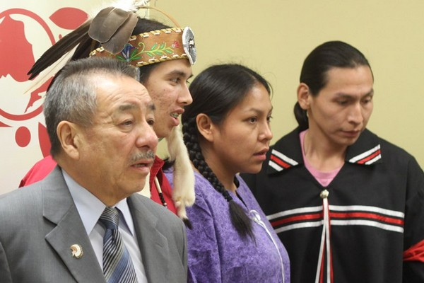 FILE -- Ontario Regional Chief Stan Beardy (left) said he still has many questions about First Nations education act.
