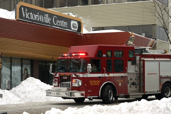 Emergency crews were on scene at Victoriaville investigating a possible gas leak Friday morning.