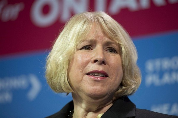 Ontario Health Minister Deb Matthews speaks at a news conference in Toronto on Monday, December 10, 2012. Ontario could become the first province in Canada to require restaurants, convenience stores and grocery stores to post calorie counts on their menu boards and menus.
