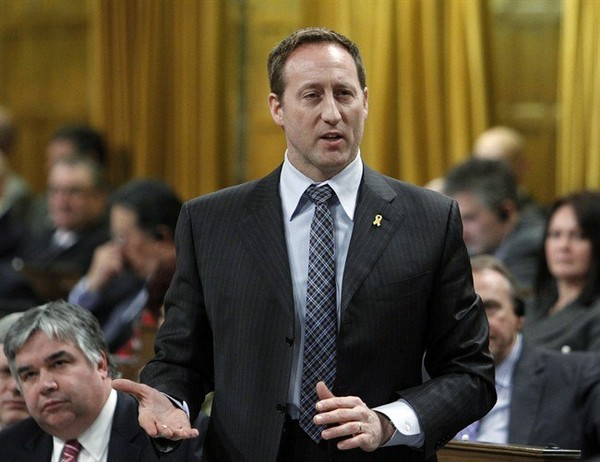 ustice Minister Peter MacKay stands in the House of Commons during Question Period on Parliament Hill, in Ottawa Tuesday, March 4, 2014
