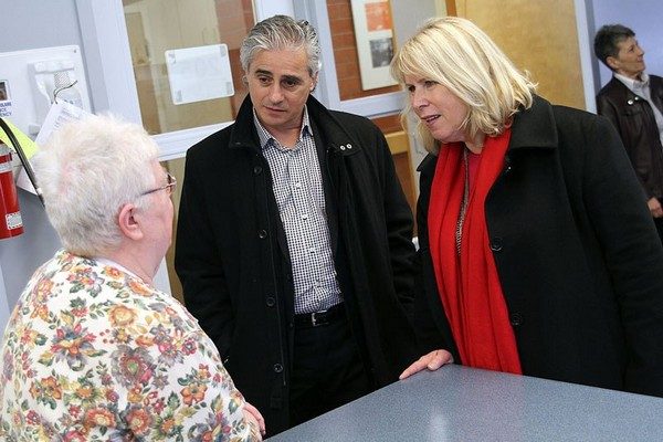 Health Minister Deb Matthwes tours the NorWest Community Health Centre on Friday.