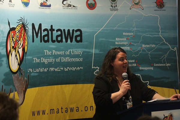 Matawa environmental program manager Sarah Cockerton