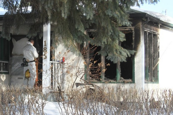 Fire investigators were on scene Thursday morning at an East Mary Street home.