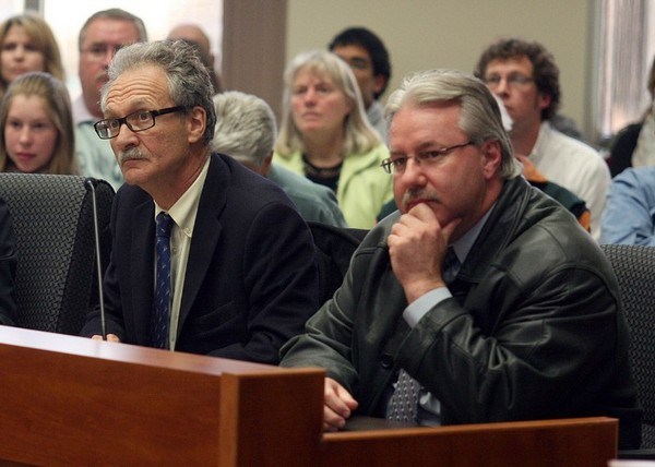 Horizon CEO Anthony Zwig (left), appears at city council in 2010.