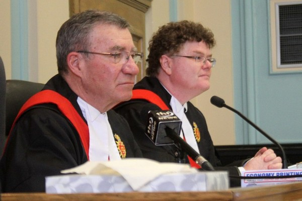Justice John McCartney and Justice Bruce Fitzpatrick gave their final submissions Friday In the Superior Court of Justice on its final day of operation.