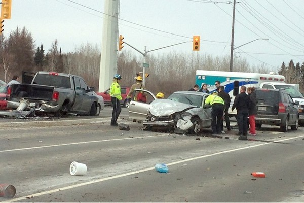 FILE -- A multi-vehicle collision had traffic slowed April 3 at the intersection of Golf Links Road and the Harbour Expressway.