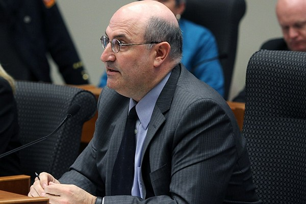 City manager Tim Commisso speaks during Monday
