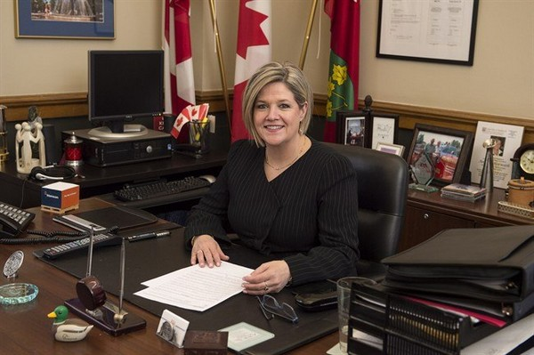 Ontario NDP leader Andrea Horwath poses for a photo at her legislature office in Toronto on Friday May 2, 2014. The stage has been set for a June election in Ontario after Horwath announced she has lost confidence in Premier Kathleen Wynne and the province