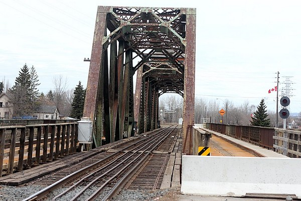 The James Street Swing Bridge remains closed to pedestrian and vehicular traffic following a fire on Oct. 29, 2013.