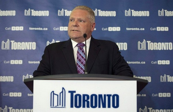 Toronto councillor Doug Ford, is pictured in Toronto on May 1, 2014.