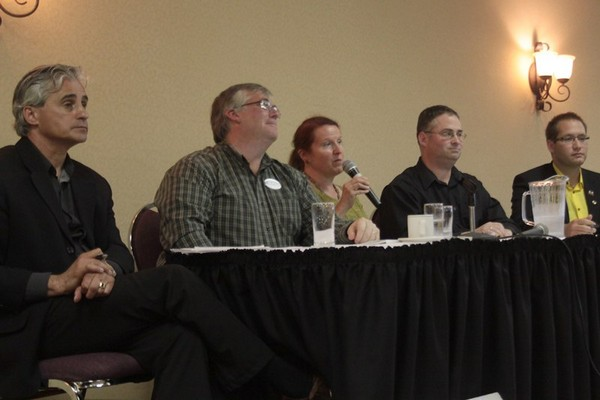 Thunder Bay-Atikokan candidates were on stage Monday night.