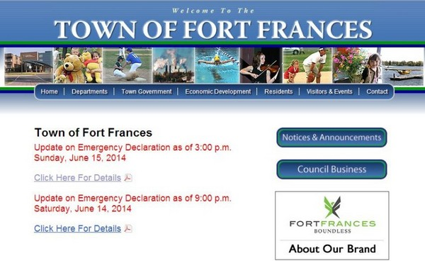 The Town of Fort Frances provides updates as it remains under a state of emergency.