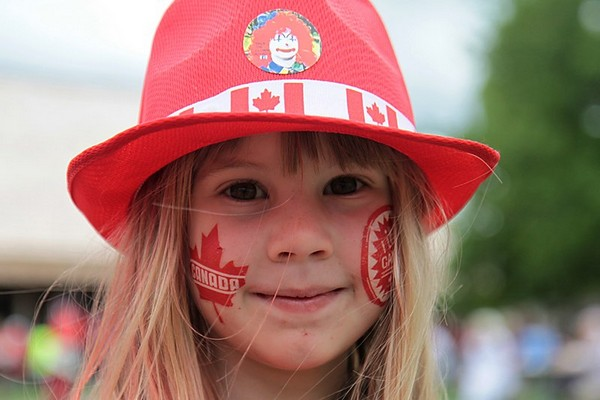 Marissa McFarling showed off her Canadian spirit at the Fort William Historical Park