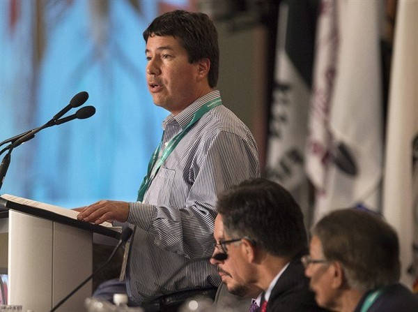 Stuart Wuttke, general counsel for the Assembly of First Nations, details proposals dealing for the election of a national chief as native leaders from across Canada attend the AFN