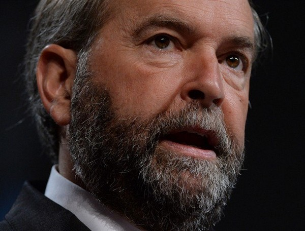 NDP Leader Tom Mulcair addresses the Canadian Medical Association