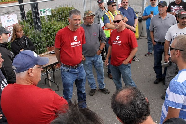 Unifor Local 1075 president Dominic Pasqualino is urging members to join a rally Monday at City Hall, where they