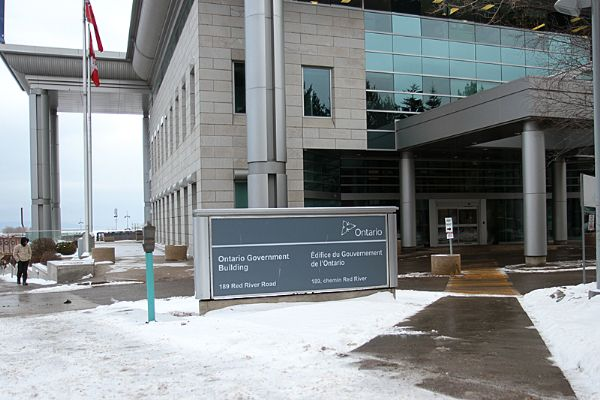 The Ontario Government Building on Red River Road. The provincial government directly employs more than 1,800 people in the city.