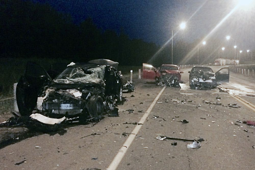 Collision closes highway