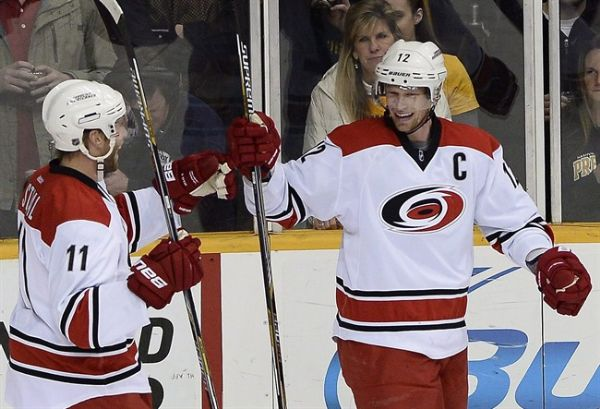 Hurricanes trade captain Eric Staal to New York Rangers
